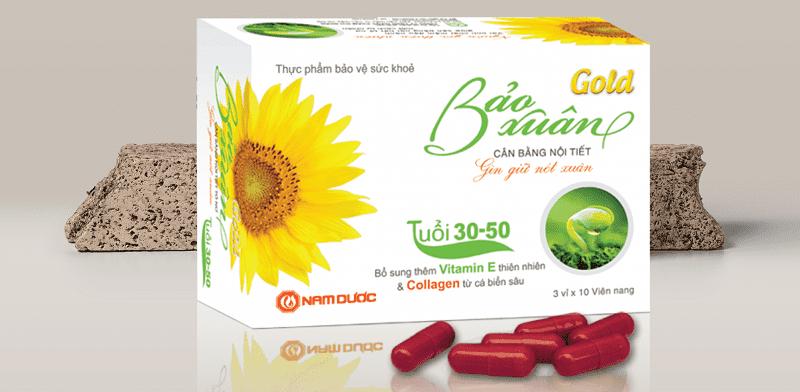 Sản phẩm nội tiết tố nữ Bảo Xuân do công ty cổ phần Nam Dược sản xuất