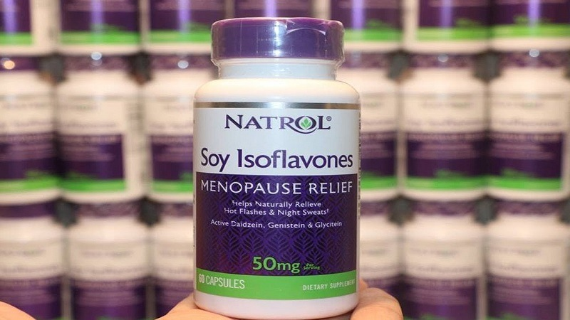 Thuốc tiền mãn kinh của Mỹ Natrol Soy Isoflavones được chị em phụ nữ tin dùng