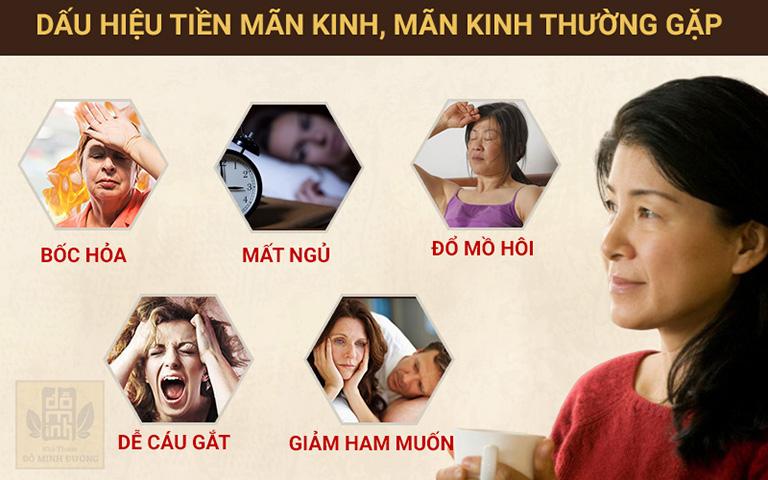 Các biểu hiện gây mệt mỏi, khó chịu cho phụ nữ tiền mãn kinh, mãn kinh