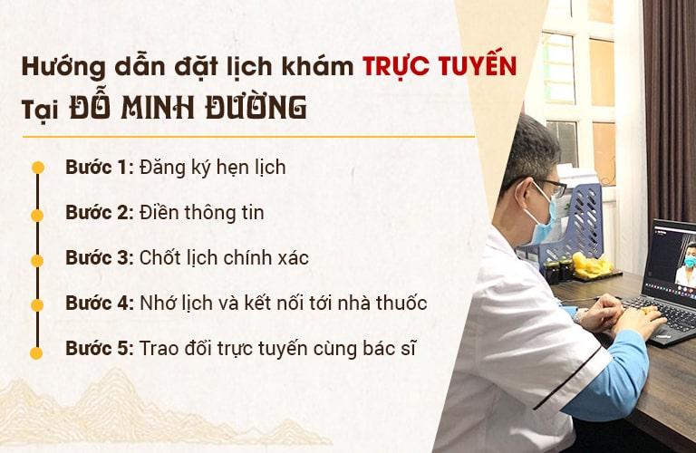 Các bước đặt lịch khám trực tuyến tại Đỗ Minh Đường