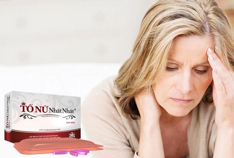 Sản phẩm giúp cải thiện các triệu chứng khô hạn, giảm bốc hỏa, mệt mỏi