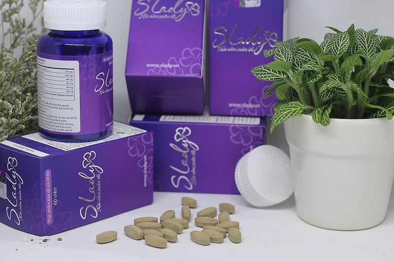 Viên uống Slady chứa các thành phần có công dụng điều trị khô hạn sau sinh hữu hiệu