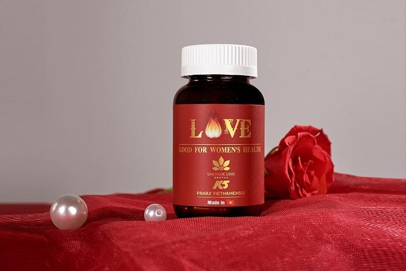 Viên uống Love Women là sản phẩm nổi tiếng đến từ Mỹ được phái đẹp yêu thích