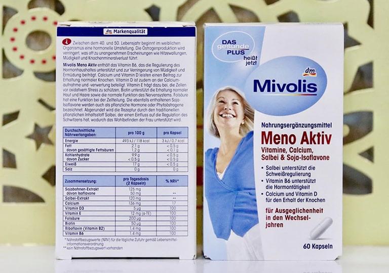 Viên uống nội tiết tố nữ Mivolis Meno Aktiv được nhiều người tin dùng